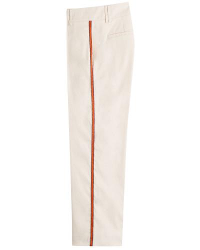 Straight Leg Pants aus Baumwolle und Seide
