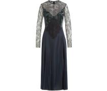 Kleid aus Satin und Spitze