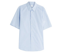 Kurzarmhemd aus Baumwolle mit Muster