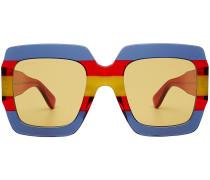 Eckige Sonnenbrille im Color Block Look