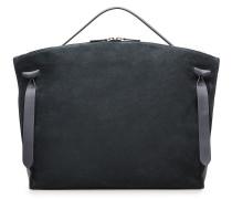Handtasche aus Velours- und Glattleder