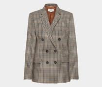 Jacke mit Glencheck-Muster