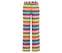 Wide-Leg-Pants aus Zickzack-Strick