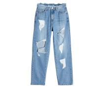 Straight Leg Jeans im Destroyed Look