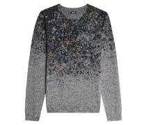 Bedruckter Pullover aus Wolle