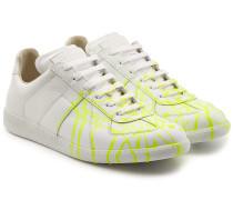 Bedruckte Sneakers Replica aus Leder