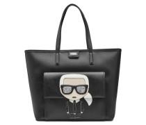 Shopper K/Ikonik mit Leder und Glitter