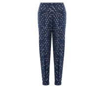 Loose-Fit-Pants aus Seide mit Print