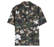 Bedrucktes Camouflage-Hemd aus Baumwolle