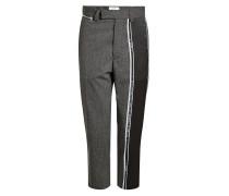 Straight Leg Pants mit Wolle und Print