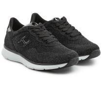 Sneakers mit Glitter Finish