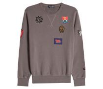 Sweatshirt aus Baumwolle mit Patches