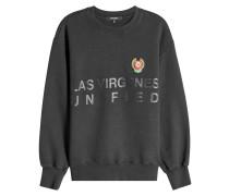 Bedrucktes Sweatshirt mit Stickerei