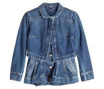 Jeansjacke im Layer Look mit Schößchen