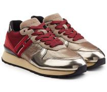 Sneakers R261 mit Leder im Metallic Look