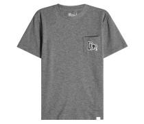 T-Shirt aus Baumwolle mit bestickter Brusttasche