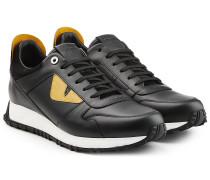 Sneakers Eyes aus Leder