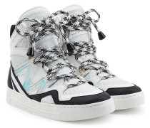High-Top-Sneakers aus Leder und Mesh