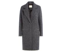 Gestreifter Mantel mit Wolle