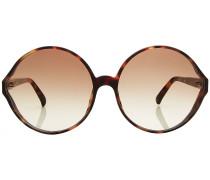 Runde Sonnenbrille mit Schildpattmuster
