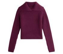 Pullover mit aufstellbaren Rollkragen aus Wolle