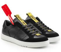 Sneakers aus Leder mit Applikationen