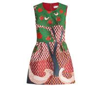 Gemustertes Kleid mit Décor