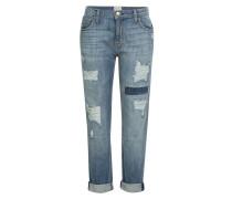 Distressed-Jeans aus Baumwoll-Stretch