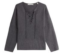Geschnürter Pullover aus Wolle und Kaschmir