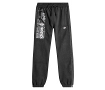 Sweatpants aus Fleece mit Logo-Detail
