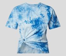 T-Shirt mit Batik-Optik