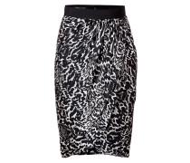 Silk Print Draped Skirt