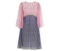 Print-Kleid aus Seidenchiffon mit Glasperlen