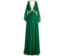 Bodenlanges Abendkleid aus Seide mit Décor