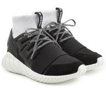 Sneakers Tubular Doom aus Textil und Leder