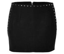 Cotton Studded Mini-Skirt in Black