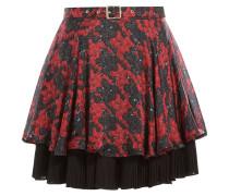 Plissierter Flared-Skirt aus Seide mit Print