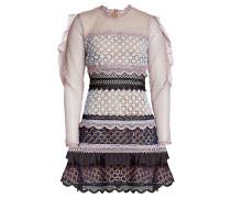Minikleid aus Spitze mit Rüschen