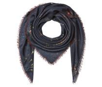 Print-Schal aus Kaschmir, Seide und Wolle