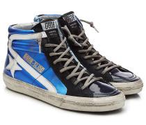 High-Top-Sneakers Slide aus Leder