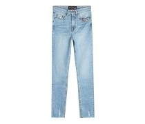Skinny Jeans im Used Look mit Décor