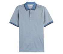 Polo-Shirt aus Seide und Baumwolle