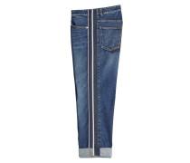 Boyfriend Jeans mit Kontrastborten