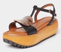 Sandale mit Plateau-Absatz