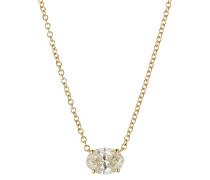 Halskette aus 18kt Gelbgold mit Diamant