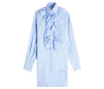 Lange Bluse aus Baumwolle mit Rüschen