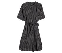 Gestreiftes Kleid aus Seide und Cupro