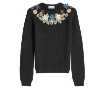 Pullover aus Schurwolle mit Applikationen