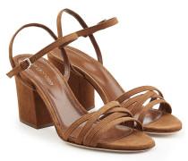 Riemchen-Sandalen Aleck aus Veloursleder mit Block Heel