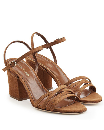Riemchen-Sandalen Aleck aus Veloursleder